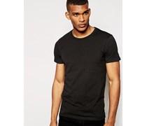 T-Shirt in regulärer Passform Schwarz
