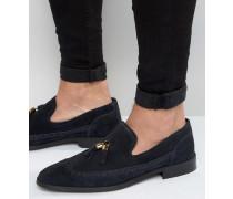 Loafer aus marineblauem Wildleder Blau