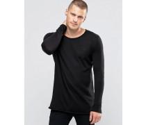 Pullover mit ungesäumten Kanten Schwarz