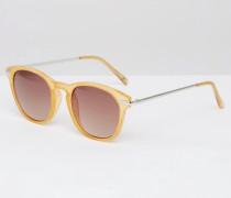 Runde Sonnenbrille in Karamell Braun