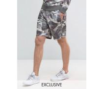 Brooklyn Supply Co Geblümte Jersey-Shorts Grau