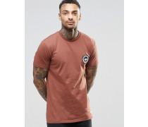 T-Shirt mit Wappenlogo Braun