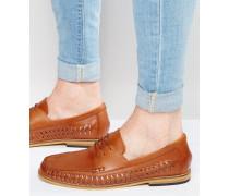 Loafer aus hellbraunem Leder Bronze