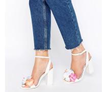 HUMOUR Sandalen mit Absatz Weiß