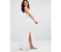 Langes Strandkleid Weiß