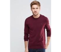 Pullover aus bordeauxrotem Baumwoll/Kaschmir Rot