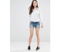 Superlow Shorts im Used-Look Blau