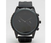 Übergroße, schwarze Uhr Schwarz