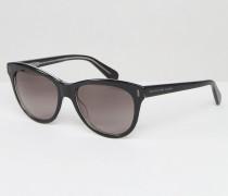Katzenaugensonnenbrille Schwarz