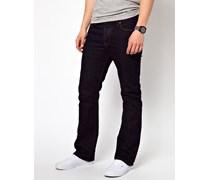 Bootcut-Jeans in Indigo Blau