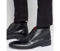 Devon Chukka-Stiefel aus Leder Schwarz