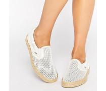 Klassische Espadrille-Sneaker aus Netzstoff Weiß