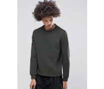 Comb Sweatshirt in Khaki Grün
