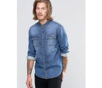 Jeans Jeanshemd Blau