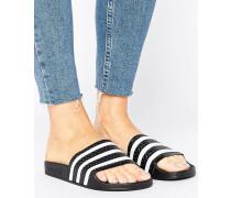 Originals Schwarz-weiße Adiletten-Sandale Schwarz
