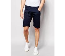 Solid Chino-Shorts Blau