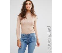 Hochgeschlossener Pullover Beige