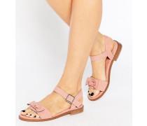FRESCO Sandalen mit Schleifen Rosa