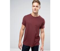 Langes T-Shirt in Burgunder Rosa