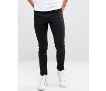 Form Superenge Jeans in Schwarz Schwarz