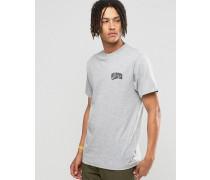 T-Shirt mit Bogen-Logo Grau