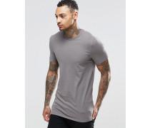 Langes Muskel-T-Shirt in Grau Grau