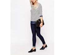 Skinny Jeans mit hoher Taille Marineblau