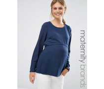 Mamalicious Webshirt, hinten gewickelt Marineblau