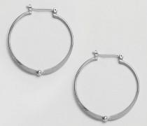Runde versilberte Ohrringe Silber