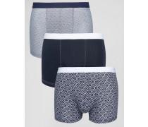 Unterhosen in Indigo, 3er-Pack Blau
