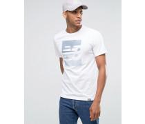 SS Weißes T-Shirt mit Logo, MT63514_WT Weiß