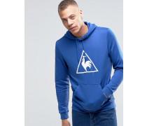 Kapuzenpullover mit dreieckigem Logo Blau