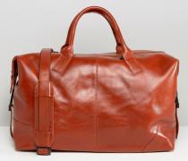 Reisetasche aus hochwertigem Leder in Braun Braun