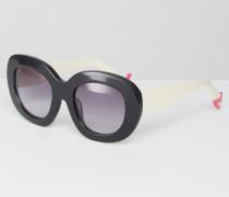 Leggy Sonnenbrille mit Farbverlauf Schwarz