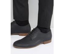 Schwarze Derby-Schuhe Schwarz