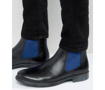 Derbe Chelsea-Stiefel mit buntem Einsätzen Schwarz