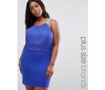 Plus Ruby Kleid mit Trägerdetail Blau