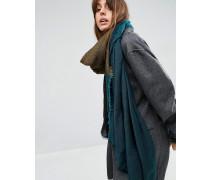 Übergroßer, leichter Schal mit Blockstreifen Blau