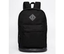 College-Rucksack aus schwarzem Stoff Schwarz