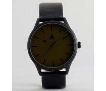 Uhr mit Zifferblatt in Khaki Schwarz