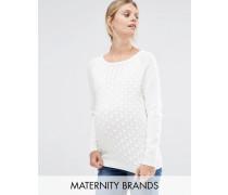 Mamalicious Strukturierter Pullover Weiß