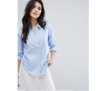 Klassisches Preppy-Hemd Blau