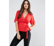Wickelbluse Rot