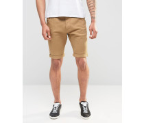 Chino-Shorts aus Baumwoll-Twill Grau