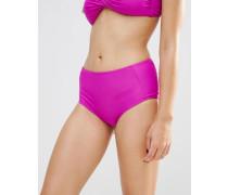 Mix & Match Bikinihose mit hoher Taille Violett
