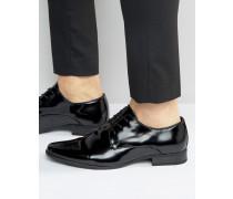 Derby-Schuhe in Schwarz lackiert Schwarz