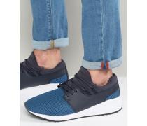 Blaue Laufschuhe mit Kontrastakzenten Blau