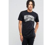 T-Shirt mit reflektierendem Logo Schwarz