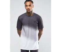 T-Shirt mit Farbabstufungen Schwarz