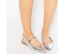 LATIMER Spitze Ballerinas Silber